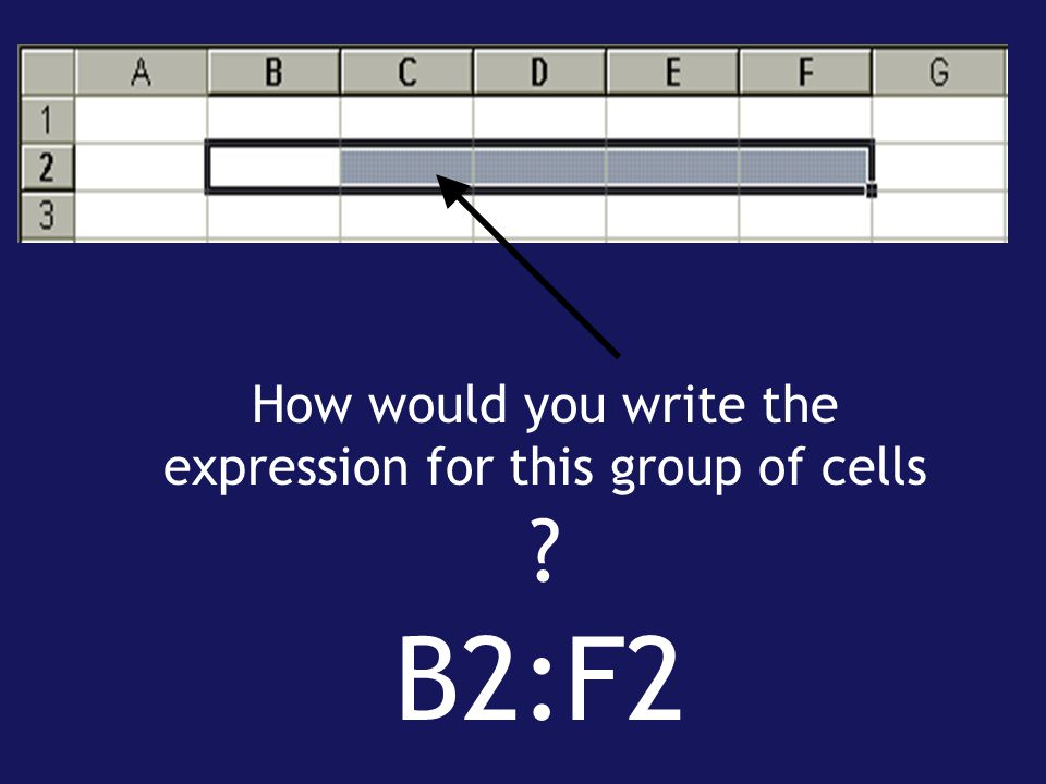 How would you write the expression for this group of cells