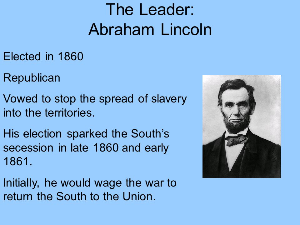 The Leader: Abraham Lincoln