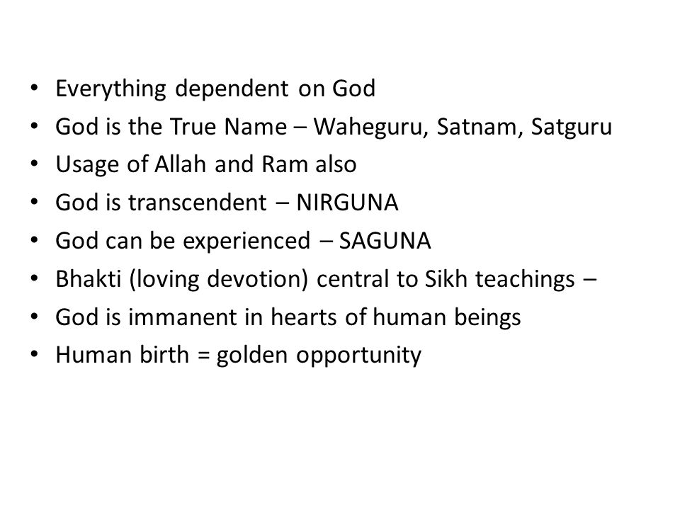 Everything dependent on God