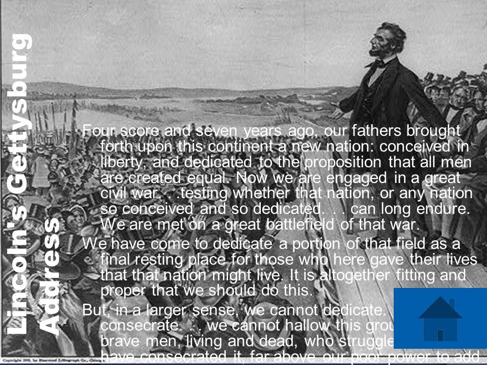 Lincoln s Gettysburg Address