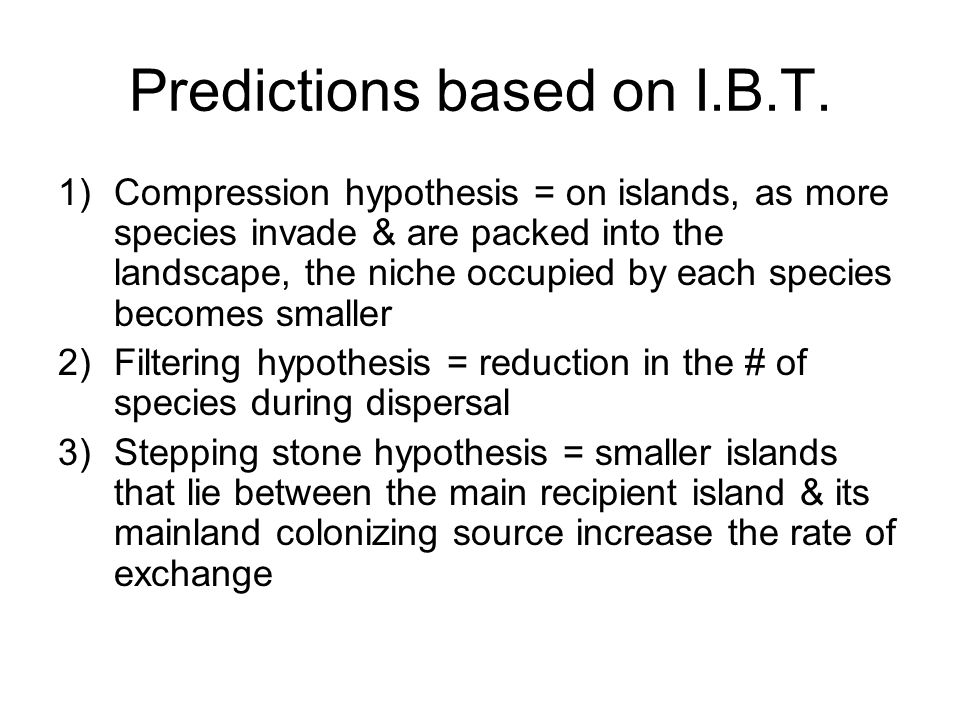 Predictions based on I.B.T.