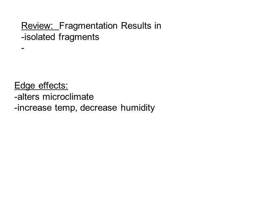 Review: Fragmentation Results in
