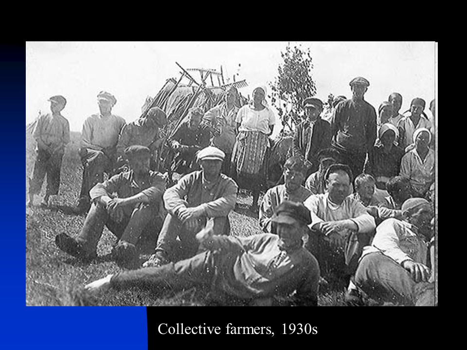 Collective farmers, 1930s