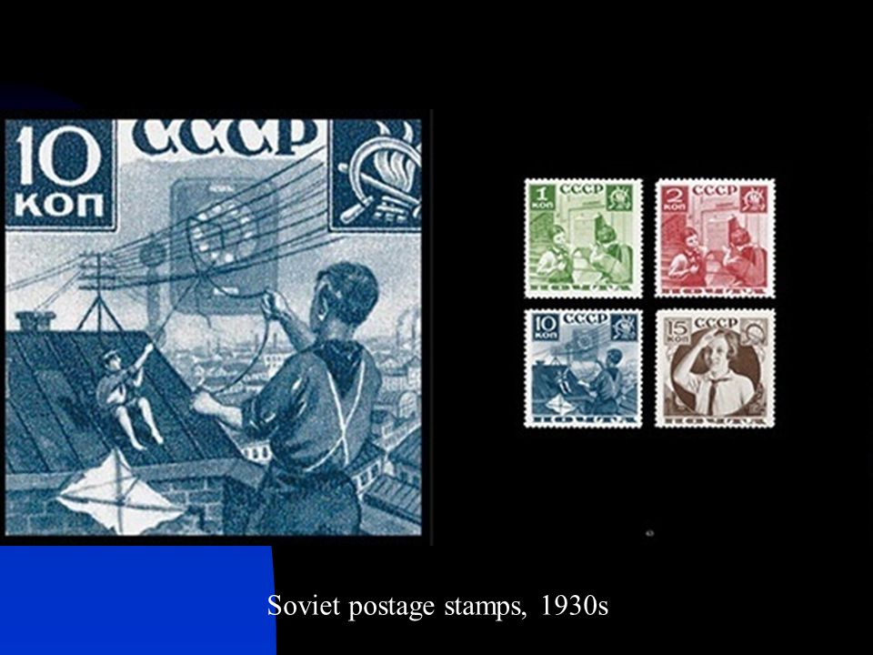 Soviet postage stamps, 1930s