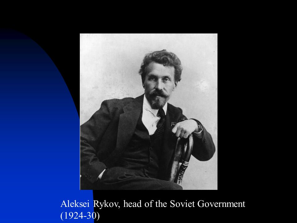 Aleksei Rykov, head of the Soviet Government (1924-30)
