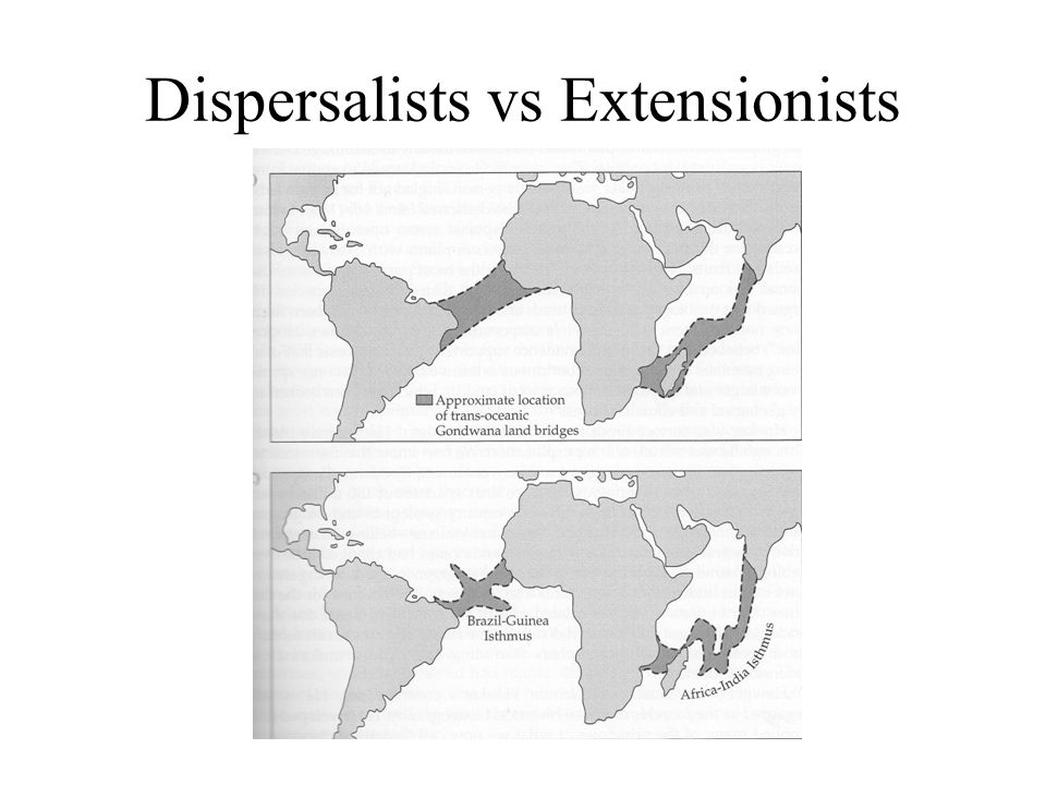 Dispersalists vs Extensionists
