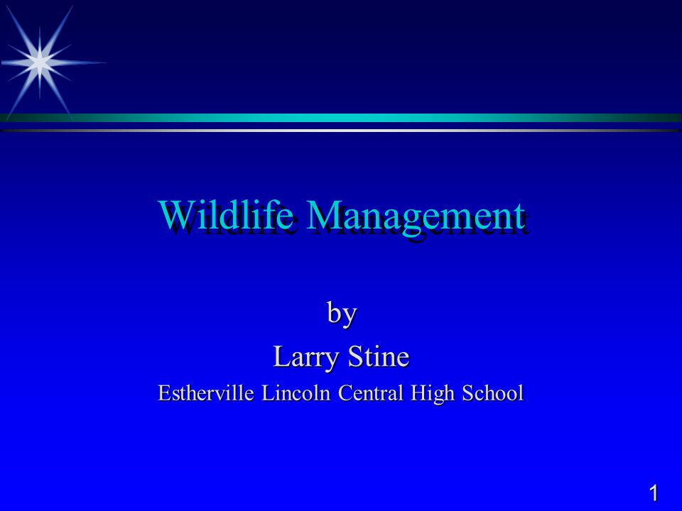 by Larry Stine Estherville Lincoln Central High School