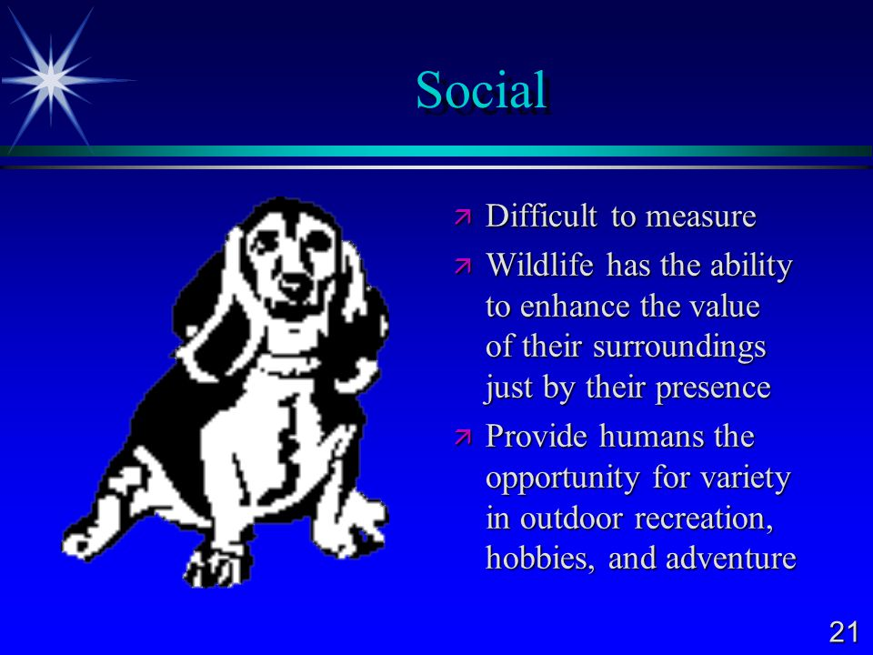 Social Difficult to measure