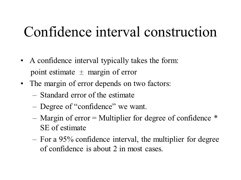 Confidence interval construction