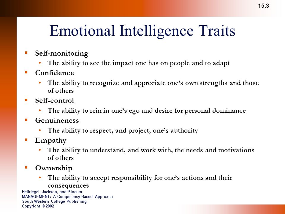 Emotional Intelligence Traits
