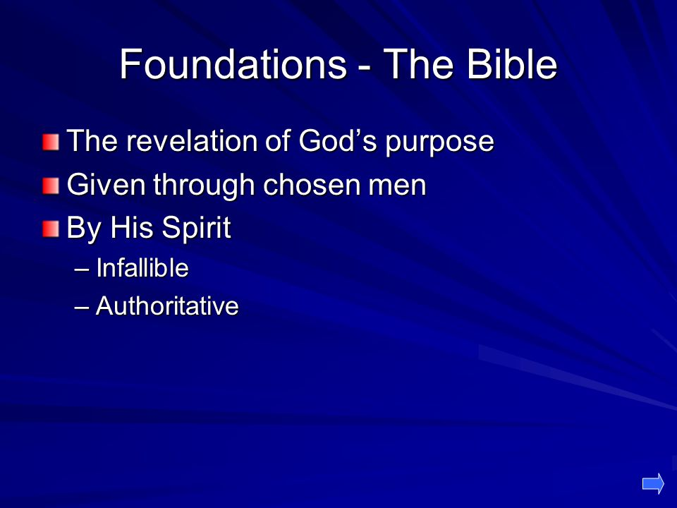 Foundations - The Bible