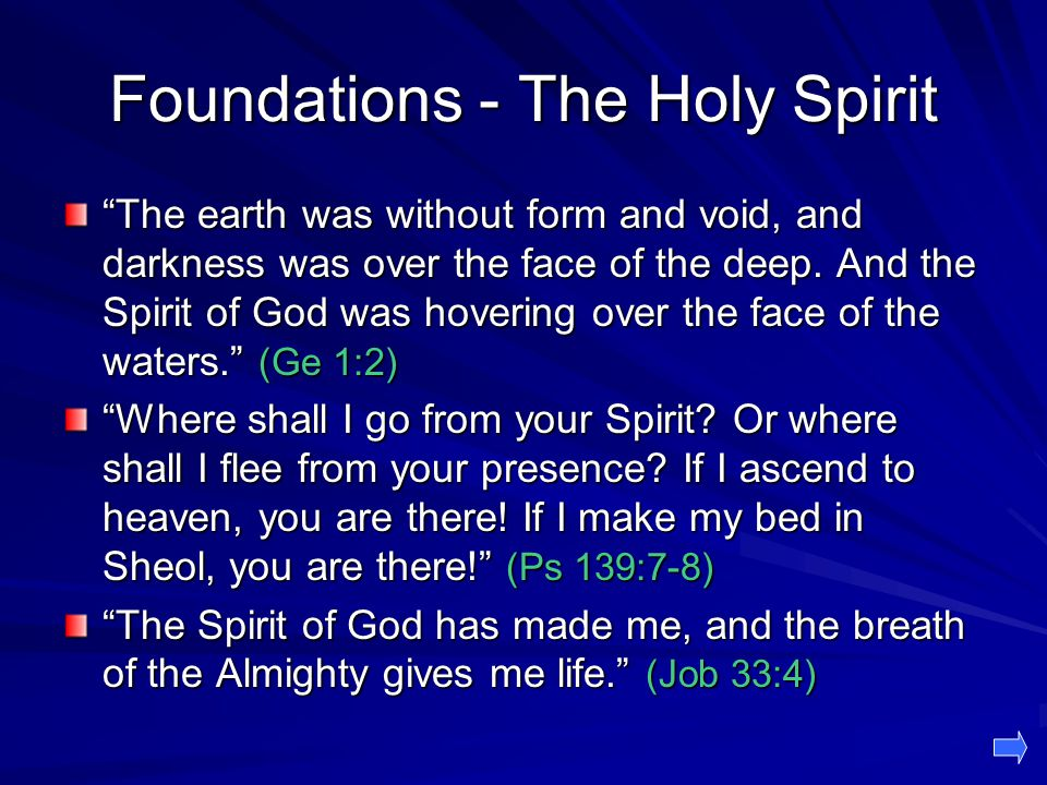 Foundations - The Holy Spirit