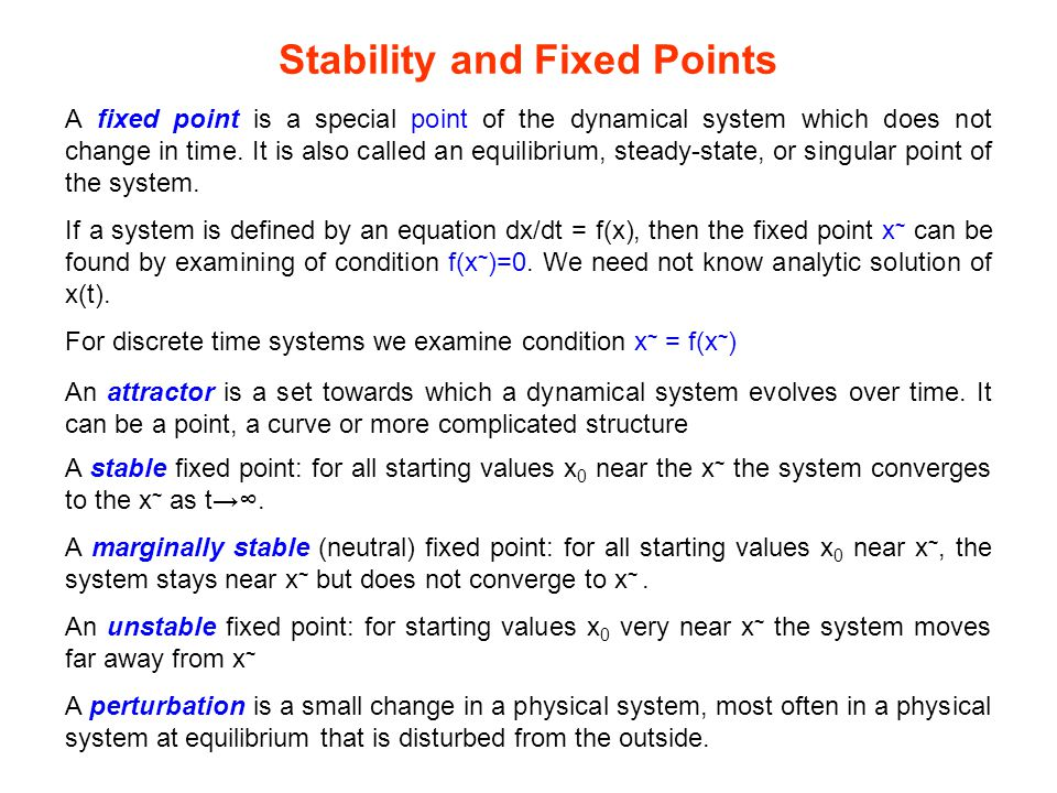 Stability and Fixed Points