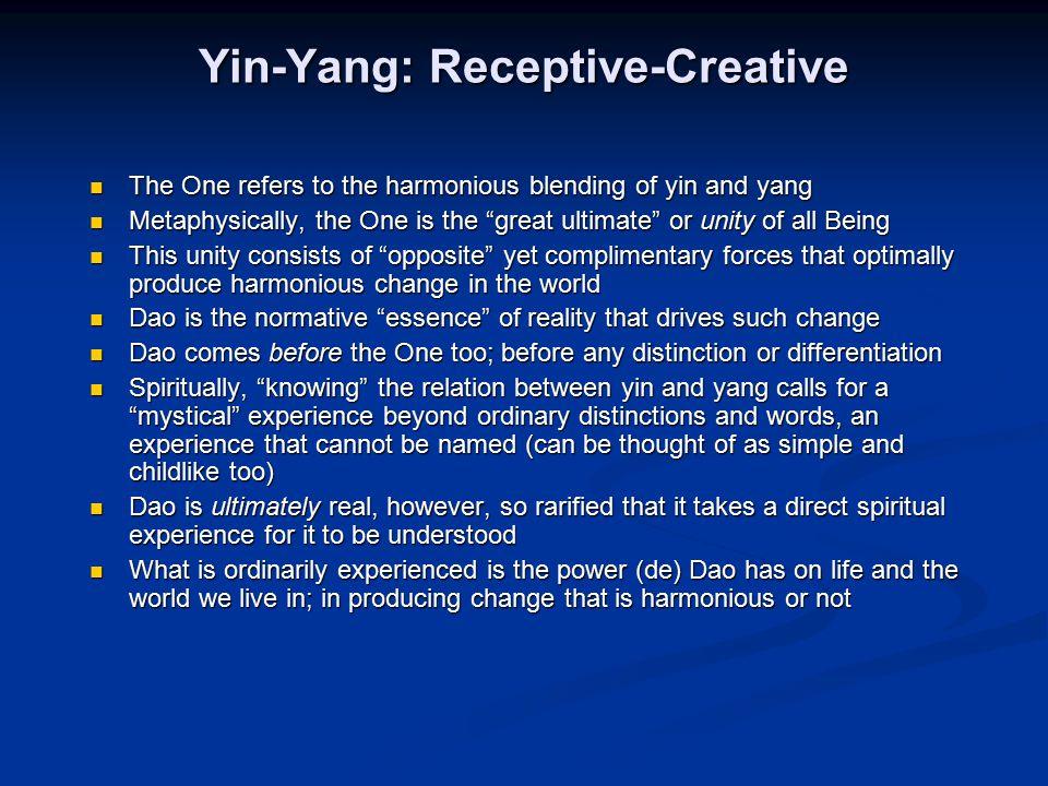 Yin-Yang: Receptive-Creative