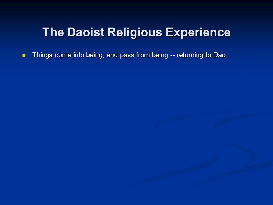 The Daoist Religious Experience