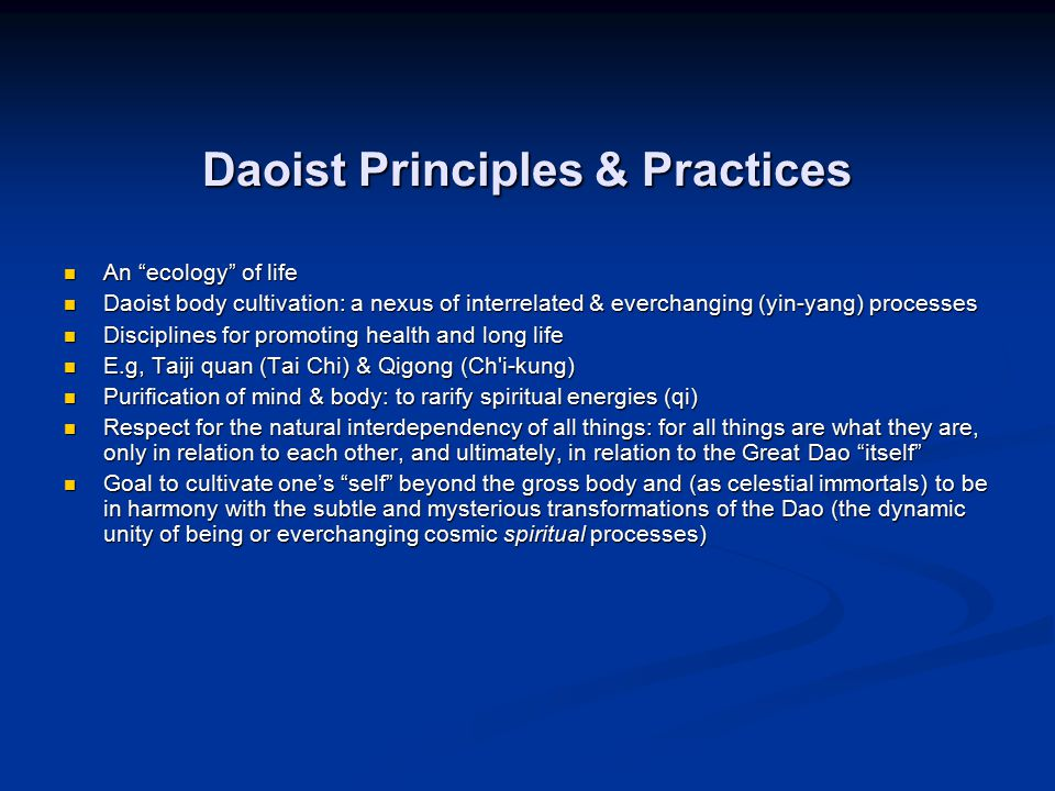 Daoist Principles & Practices