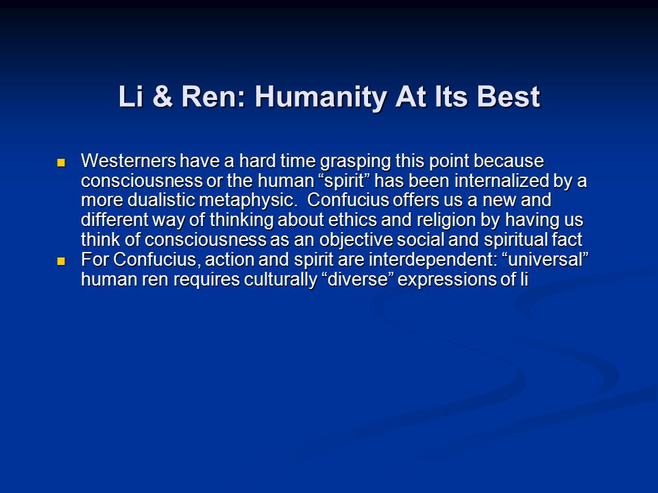 Li & Ren: Humanity At Its Best