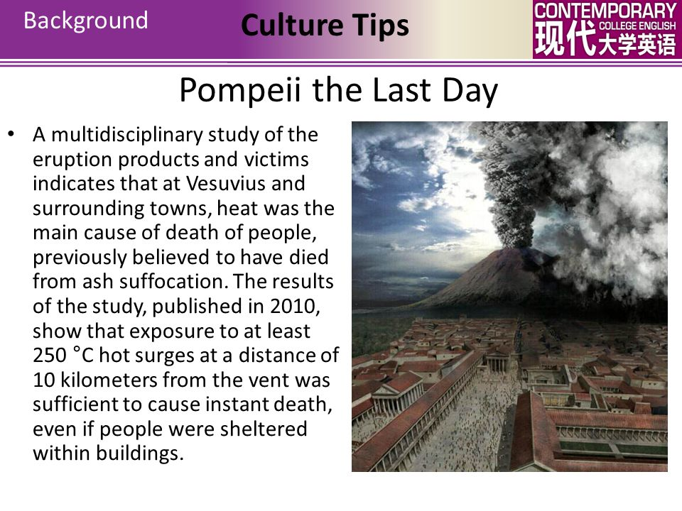 Pompeii the Last Day Culture Tips Background