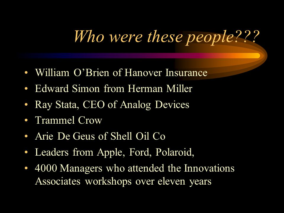Who were these people William O'Brien of Hanover Insurance