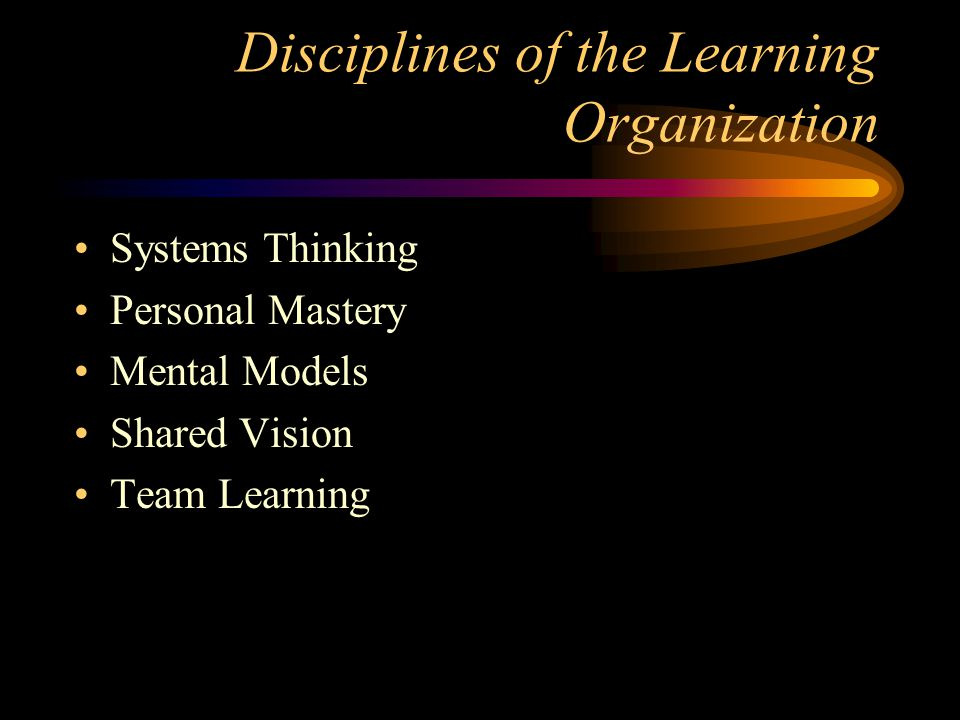 Disciplines of the Learning Organization