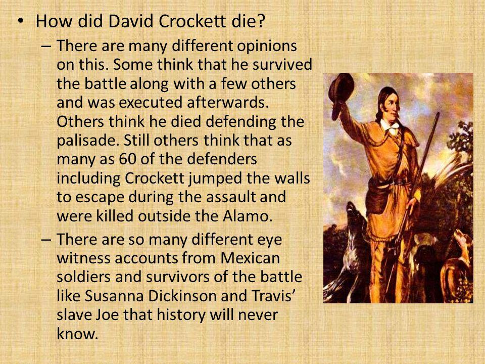 How did David Crockett die