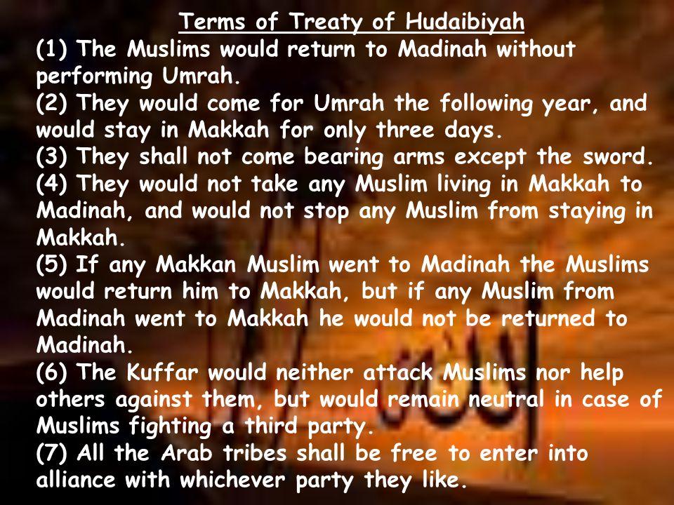 Terms of Treaty of Hudaibiyah