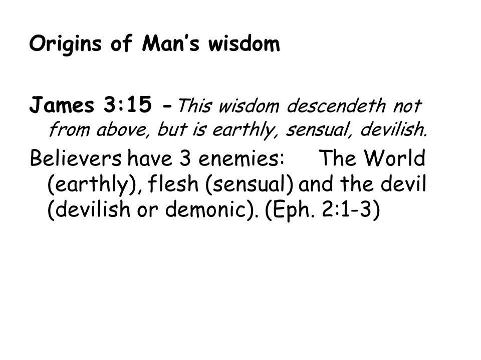 Origins of Man's wisdom