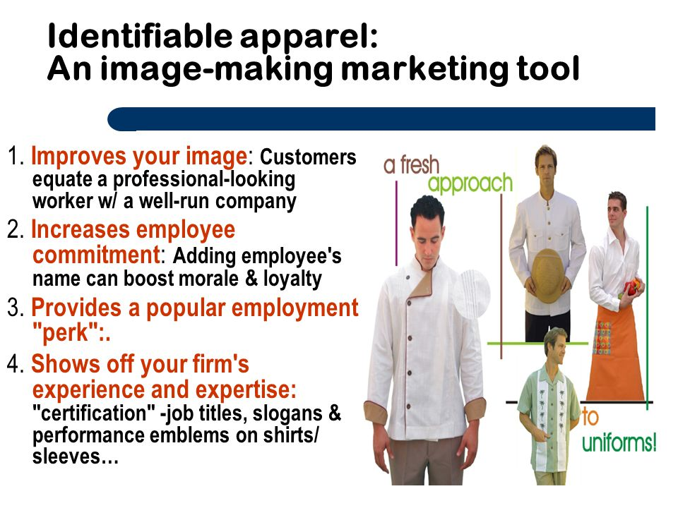 Identifiable apparel: An image-making marketing tool
