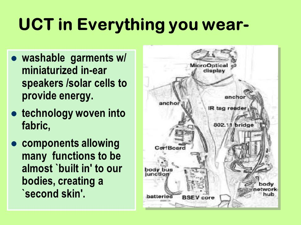 UCT in Everything you wear-