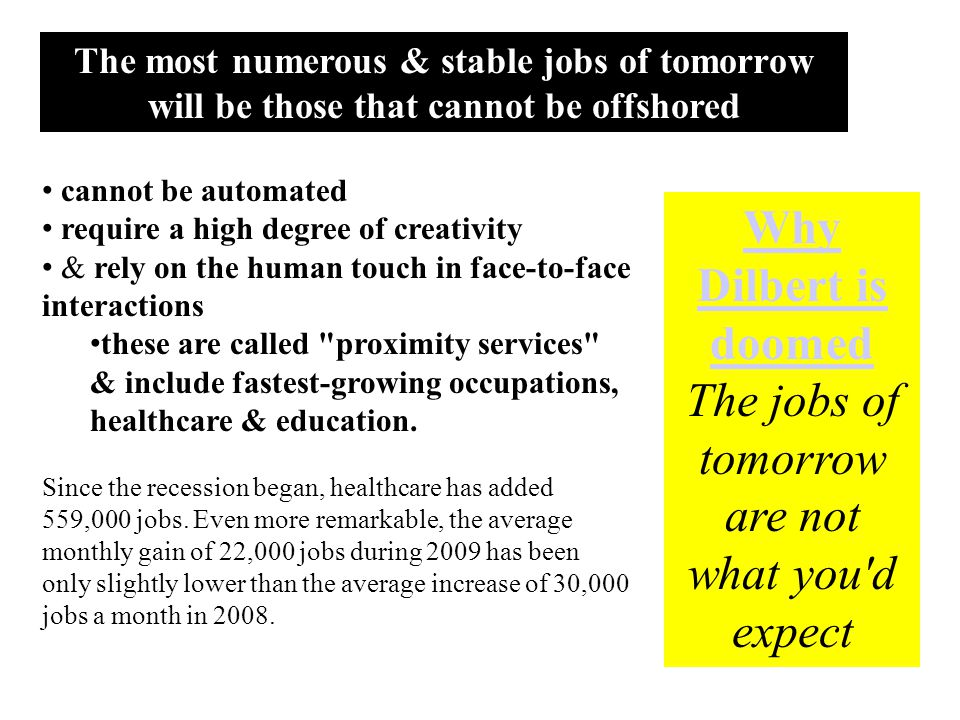 The jobs of tomorrow are not what you d expect