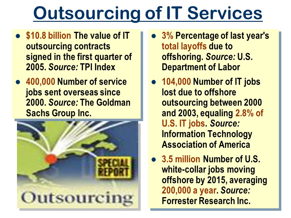 Outsourcing of IT Services
