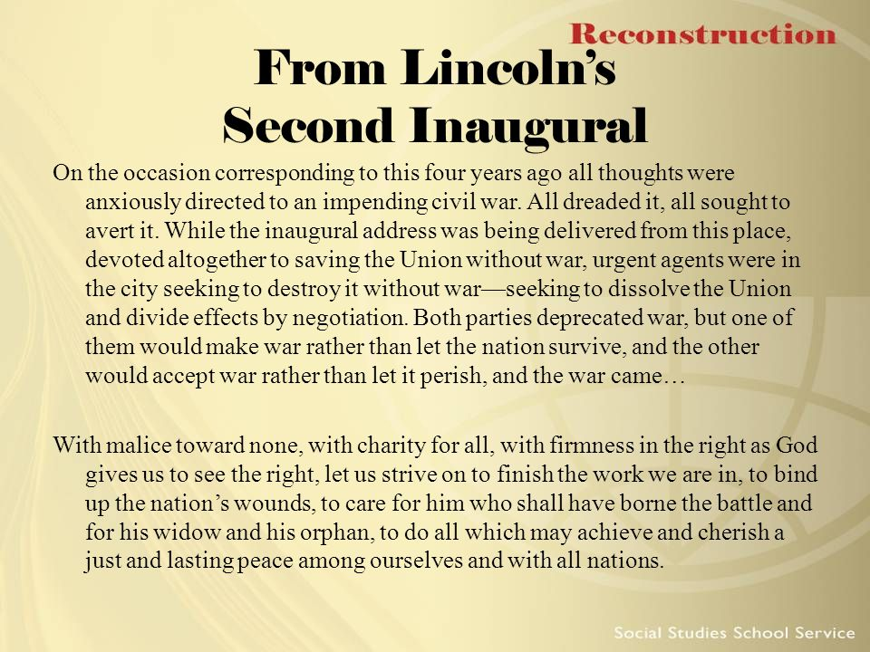 From Lincoln's Second Inaugural