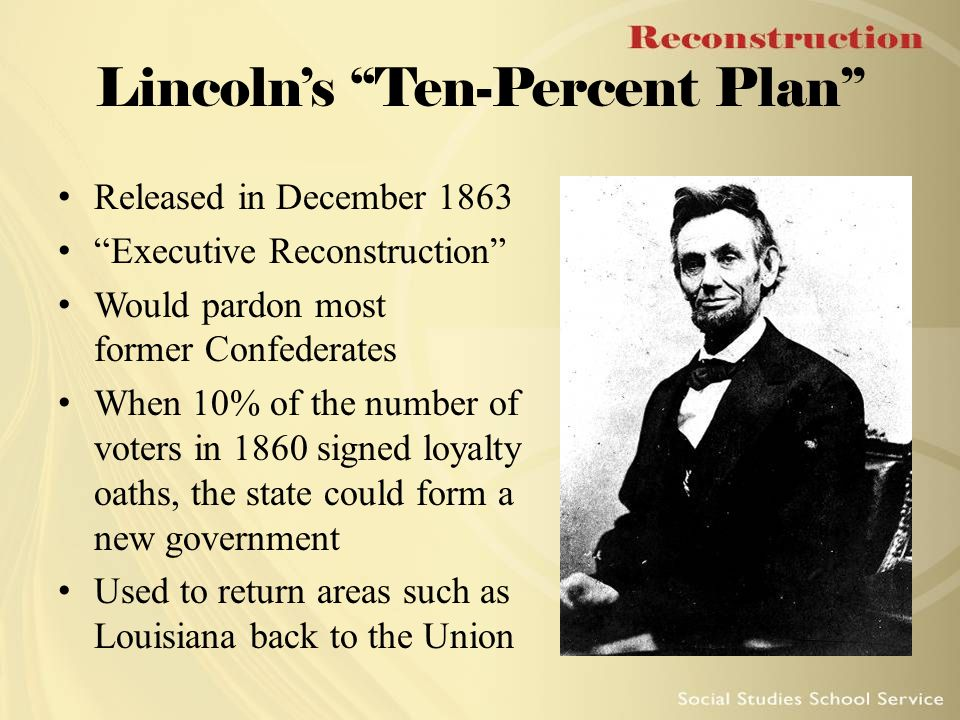 Lincoln's Ten-Percent Plan