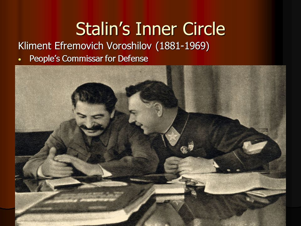 Stalin's Inner Circle Kliment Efremovich Voroshilov (1881-1969)