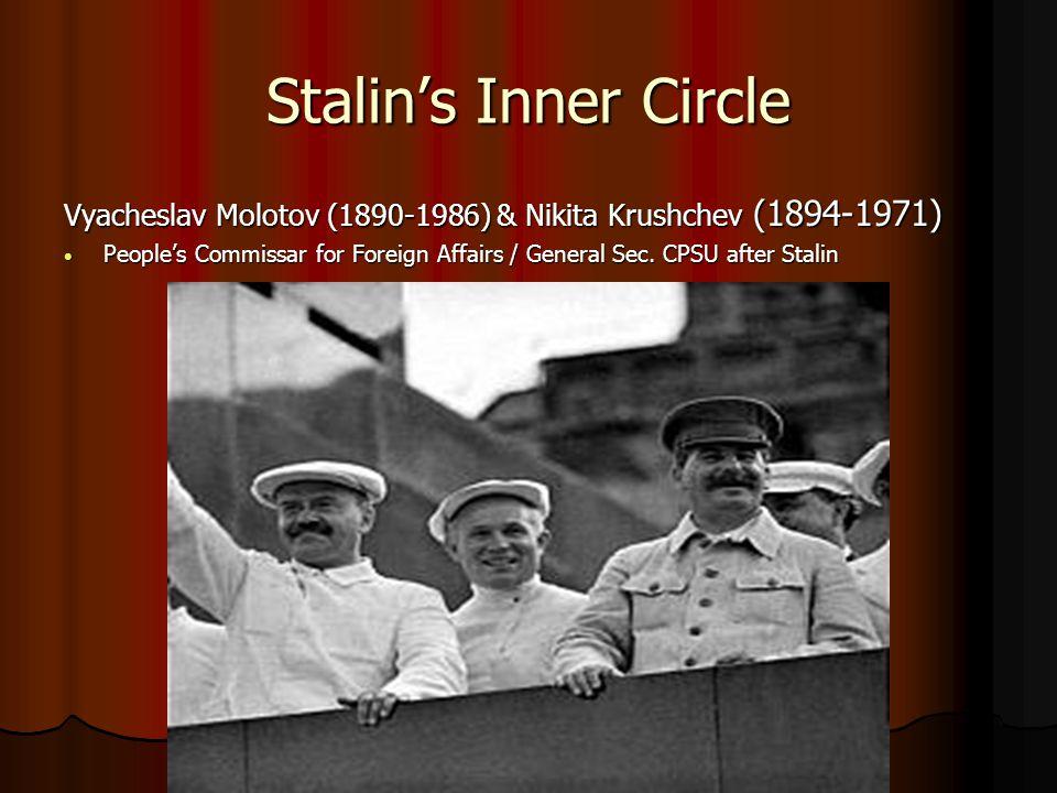 Stalin's Inner Circle Vyacheslav Molotov (1890-1986) & Nikita Krushchev (1894-1971)