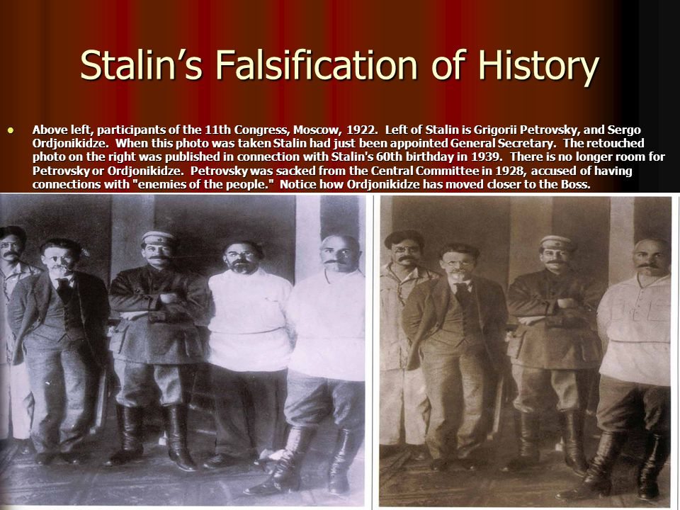 Stalin's Falsification of History
