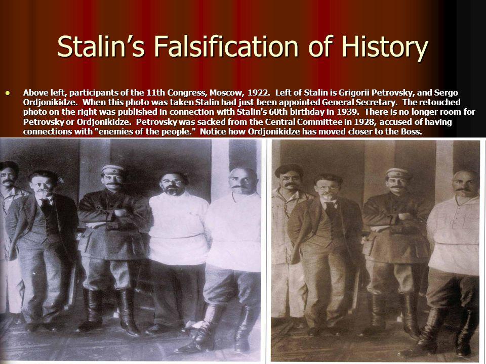 Stalin's Falsification of History