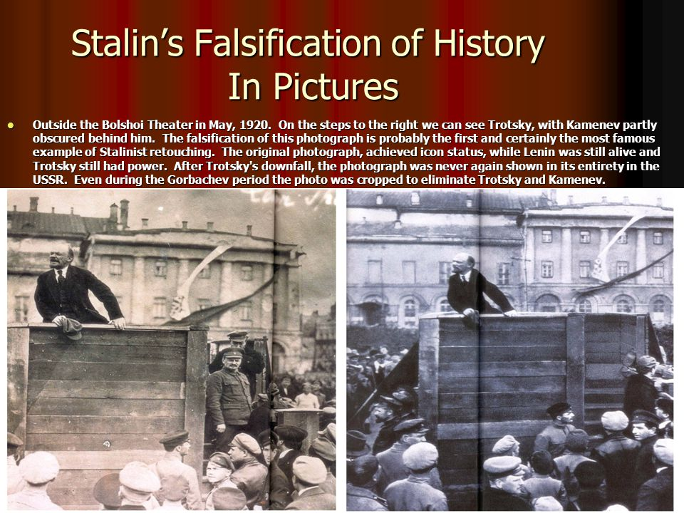Stalin's Falsification of History In Pictures