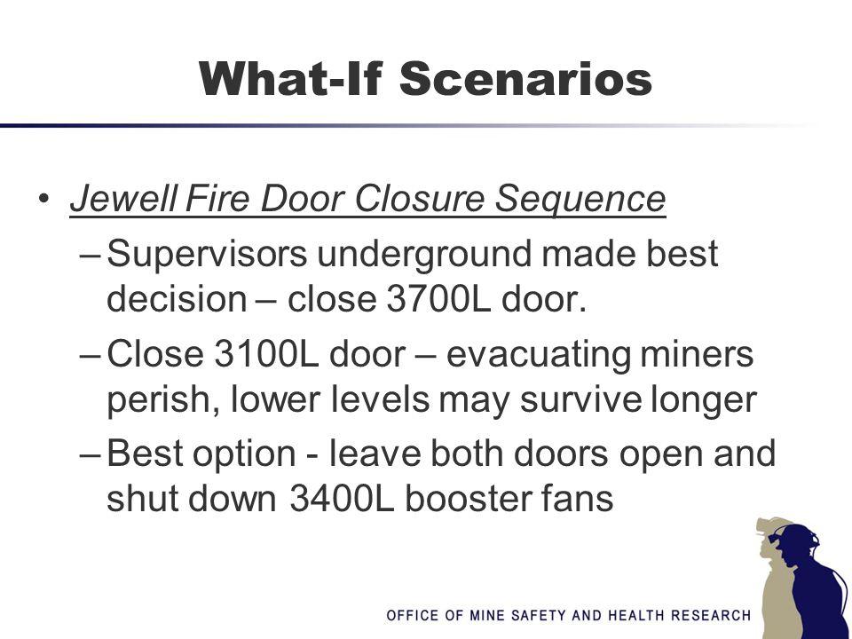 What-If Scenarios Jewell Fire Door Closure Sequence