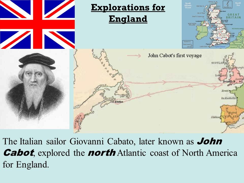 Explorations for England