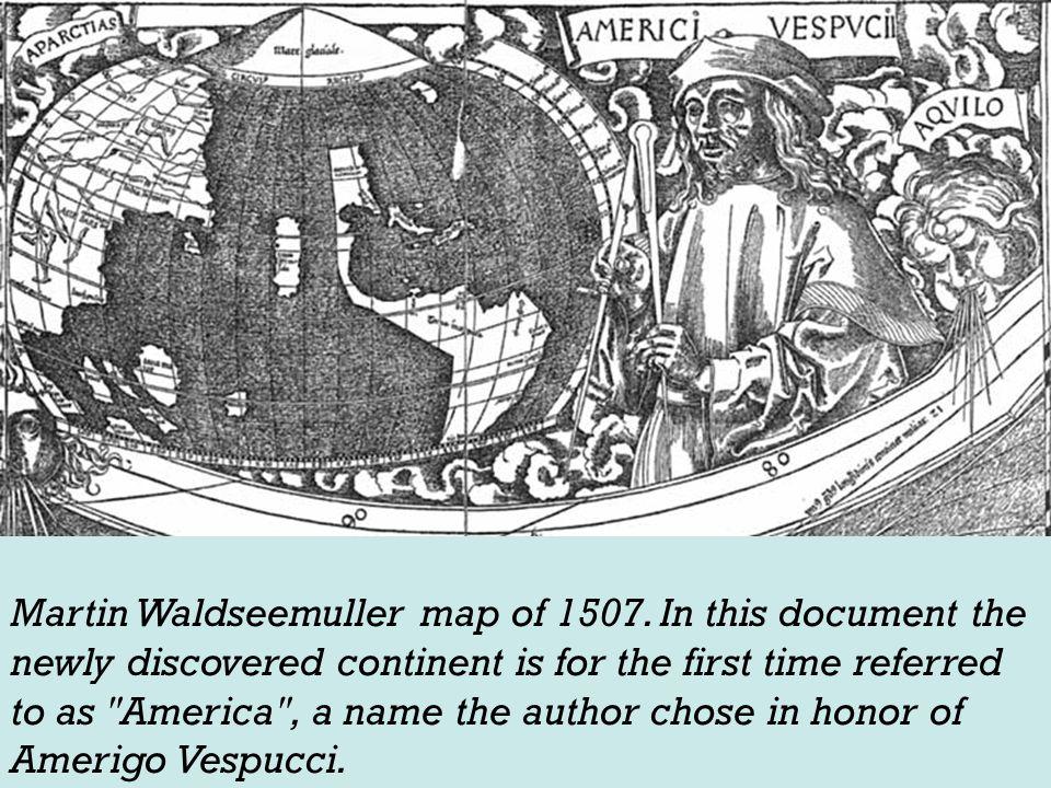 Martin Waldseemuller map of 1507