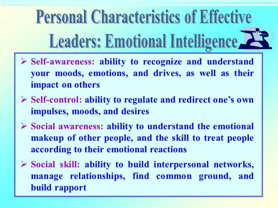 Personal Characteristics of Effective Leaders: Emotional Intelligence