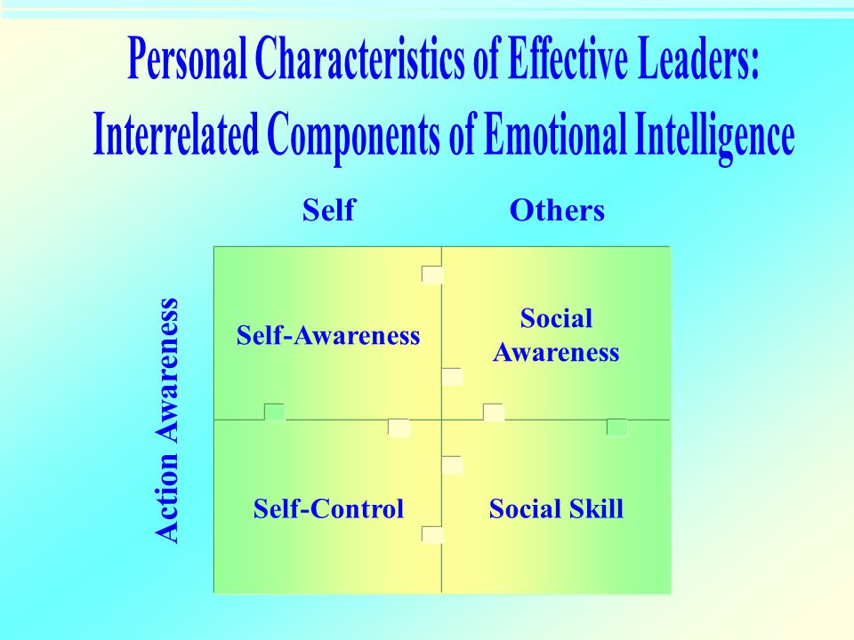 Personal Characteristics of Effective Leaders: