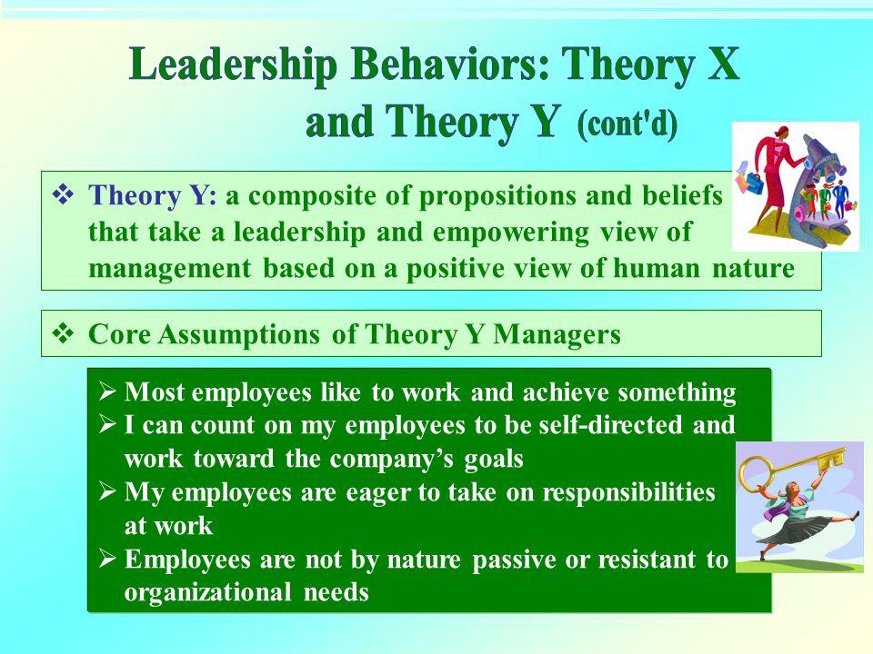 Leadership Behaviors: Theory X