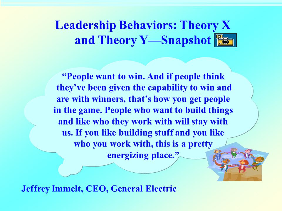 Leadership Behaviors: Theory X and Theory Y—Snapshot
