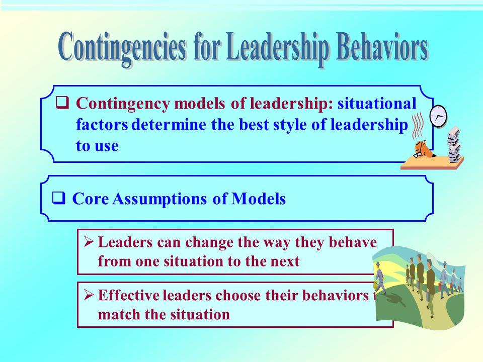 Contingencies for Leadership Behaviors