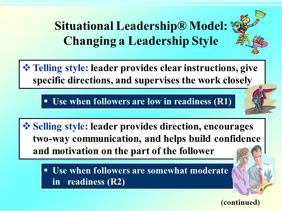 Situational Leadership® Model: Changing a Leadership Style