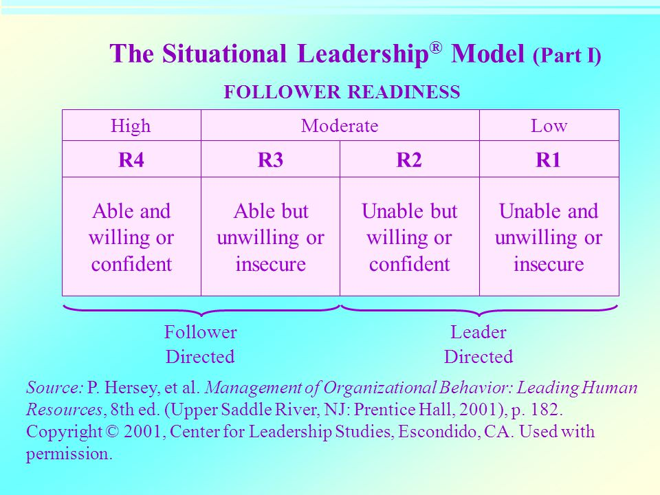 The Situational Leadership® Model (Part I)