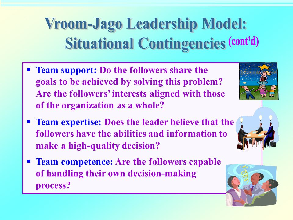 Vroom-Jago Leadership Model: Situational Contingencies
