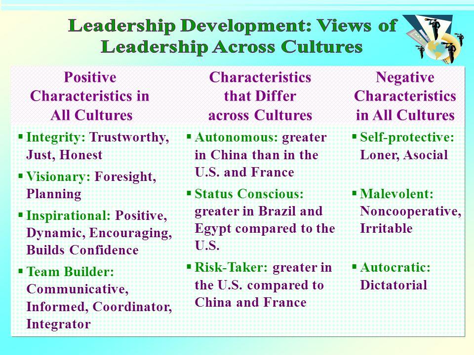 Leadership Development: Views of Leadership Across Cultures